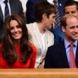 Kate Middleton e William nel box reale a Wimbledon: duchessa sfoggia vestito rosso16