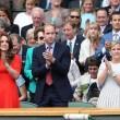 Kate Middleton e William nel box reale a Wimbledon: duchessa sfoggia vestito rosso4