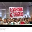 Calciomercato As Roma: Dzeko a Fiumicino, decine di tifosi lo accolgono