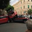 Incidente nel centro di Messina utilitaria contro auto Carabinieri FOTO2