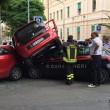 Incidente nel centro di Messina utilitaria contro auto Carabinieri FOTO4