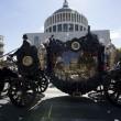 Casamonica funerale sfacciato: cavalli, Padrino, Rolls Royce5