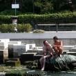 Venezia, bagno nudo nel Canal Grande, turisti senza maglietta a San Marco 5