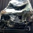 Gb, auto si ribalta sei volte: donna incinta illesa