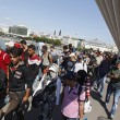 Marcia a piedi profughi siriani per fuggire i campi di Orban4