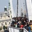 Marcia a piedi profughi siriani per fuggire i campi di Orban6