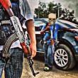 Narcos messicani, FOTO web: pistole dorate, Ak 47, soldi4