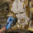 Restauro Galleria Caracci, scoperti graffitari del '700