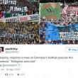 Rifugiati benvenuti striscioni tifosi Bundesliga3