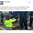 Bimba siriana offre dolce a poliziotto ungherese: la FOTO