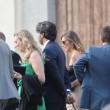 Maria Elena Boschi, tubino in pizzo al matrimonio portavoce 9