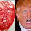 Usa sangue mestruale per fare ritratto di Donald Trump FOTO