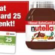 Nutella vale sconto del 25% sul treno. In Germania