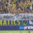 """""""Refugees not Welcome"""": Maccabi Tel Aviv anti-migranti FOTO"""