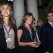 Maria Elena Boschi, tubino in pizzo al matrimonio portavoce 16