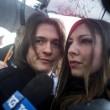 Raffaele Sollecito e Greta Menegaldo (foto Ansa)