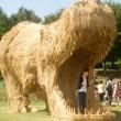 Giappone, giganti sculture di paglia nei campi FOTO 3