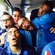 Napoli, Allan addormentato sul pullman: i compagni ... FOTO