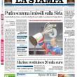 Putin, Ignazio Marino le prime pagine dei giornali (9)