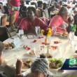 Matrimonio annullato: pranzo nozze diventa festa per barboni4