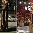 Gf 14, Alessia Marcuzzi e abito nero e oro stile Madonna... 2