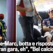 L'incontro-scontro tra Valentino Rossi e Marquez, un'immagine pubblicata dalla Gazzetta dello Sport