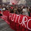 Cortei studenti in tutta Italia. Bologna, scontri. FOTO Roma4
