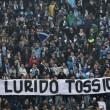 """FOTO """"J-Ax lurido tossico"""": striscione tifosi Lazio dopo..."""