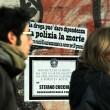 Manifestazione per la morte di Stefano Cucchi Nella foto: manifestanti