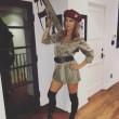 Elisabetta Canalis, Halloween vestita da soldatessa VIDEO