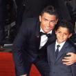 """YOUTUBE Cristiano Ronaldo e figlio alla prima del """"suo"""" film"""