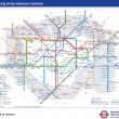 Londra: la mappa che ti dice distanza a piedi tra stazioni metro01