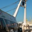 Pescatore Matteo Colella minaccia suicidio da torre barca FOTO