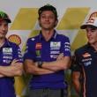 Jorge Lorenzo, Valentino Rossi e Marc Marquez (foto Ansa)