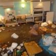Cucina allagata per tempesta Desmond: pensionato nuota 3