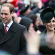 Kate e William a messa: polizia controlla carrozzine bimbi