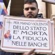 Salva banche, protesta risparmiatori vicino Bankitalia FOTO 2