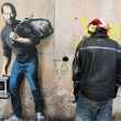 "Bansky, Steve Jobs ""migrante"": sacco in spalla e Mac"