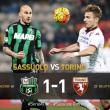 Sassuolo-Torino 1-1, highlights-pagelle: Acerbi-Belotti gol