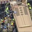 Bus si schianta sotto ponte ferroviario, 11 feriti2