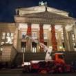 Giubbotti migranti Lesbo nell'istallazione di Berlino3