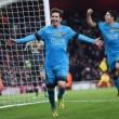 Barcellona, Messi esulta dopo il gol nella foto Ansa