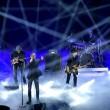 """Sanremo, Lucio Dalla """"canta"""" con gli Stadio4"""