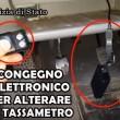 YOUTUBE Tassisti Roma: telecomando per alterare tassametro7
