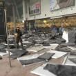 Bruxelles, sala check in distrutta dopo le bombe15