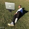 "Macbook Selfie Stick"", bastone autoscatto pc portatili 777"