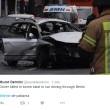 Berlino, esplode auto con uomo alla guida. Paura bomba