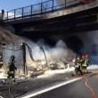 Autostrada A1 chiusa: tir fiamme tra Caianello e Capua FOTO4