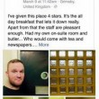 Passa notte in cella: selfie e recensione stile TripAdvisor01