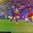 Neymar, controllo tacco spettacolare contro Arsenal